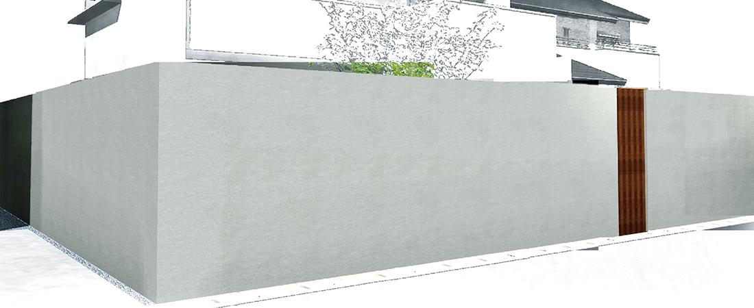 庭境界囲い グランドアートウォールの施工価格