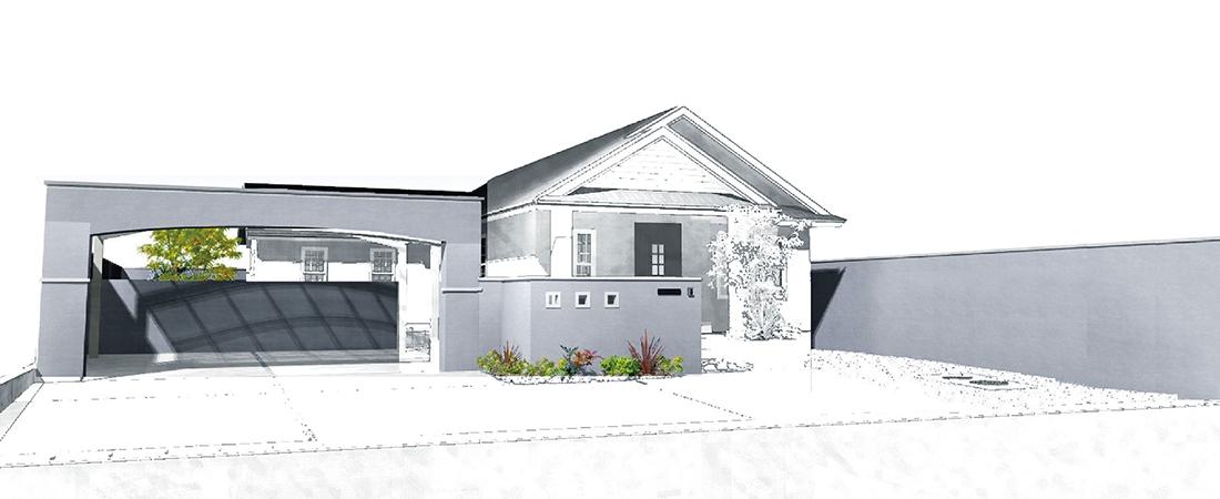敷地境界一周 + ゲート施工 グランドアートウォールの施工価格